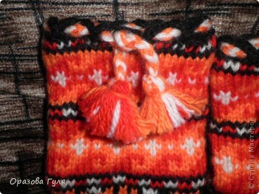 Теплые носки с орнаментом. Джурабы. фото 11
