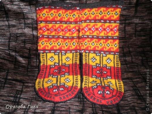 Теплые носки с орнаментом. Джурабы. фото 9