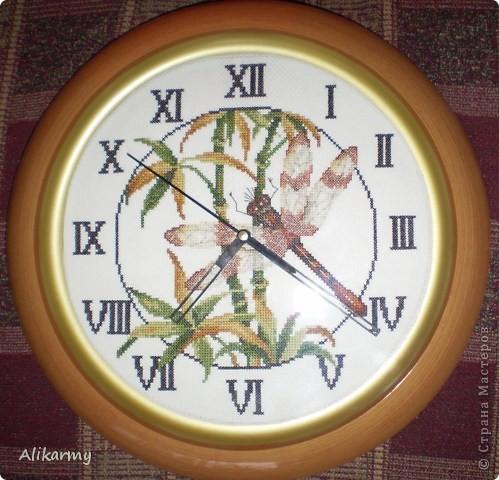 Вышивка крестом Часы со