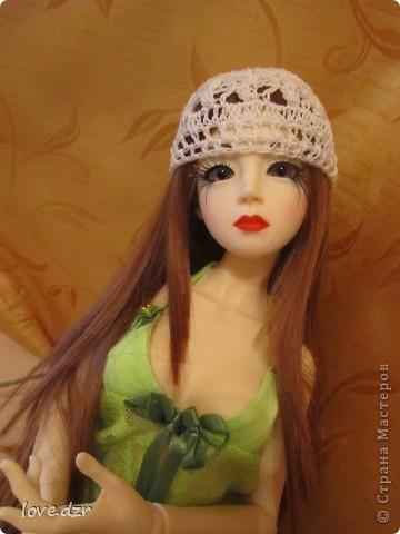 Рост куклы 65см,она шарнирная ручной работы. фото 5