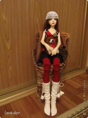 Рост куклы 65см,она шарнирная ручной работы. фото 1