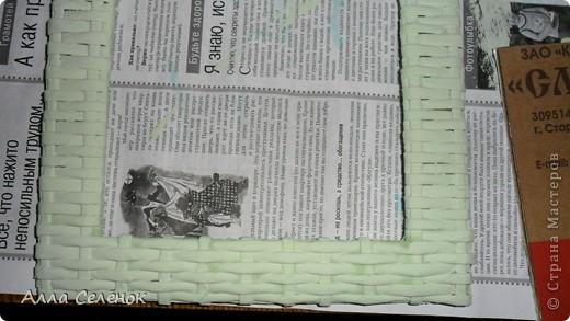 Мастер-класс Поделка изделие Рама паспарту Декупаж Плетение Плетение рамочки Бумага газетная Картон гофрированный Клей Краска Салфетки Трубочки бумажные фото 22