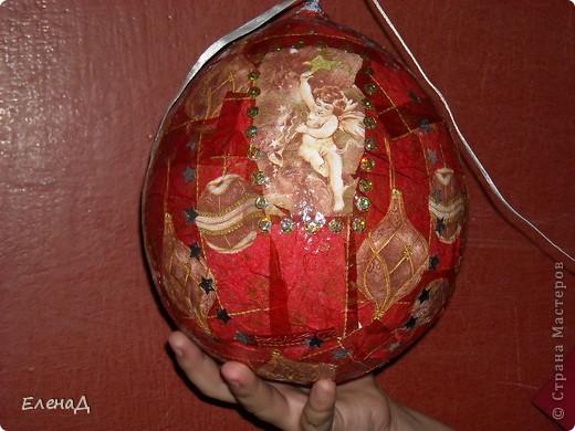 Новогодние шары из папье маше своими руками
