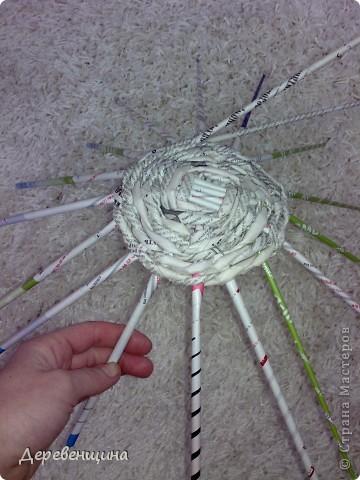 Мастер-класс Плетение Митуюк бумажный  Бумага газетная Трубочки бумажные фото 6