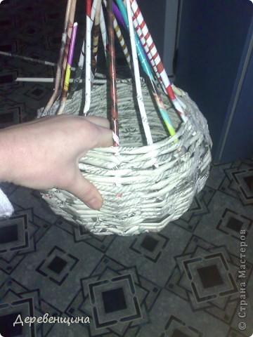 Мастер-класс Плетение Митуюк бумажный  Бумага газетная Трубочки бумажные фото 8