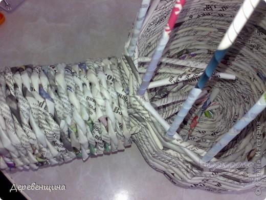 Мастер-класс Плетение Митуюк бумажный  Бумага газетная Трубочки бумажные фото 27
