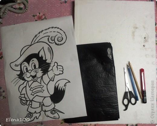 Рисунок кота в сапогах 2 класс