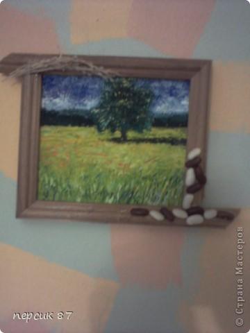Давняя работа......Картину нарисовала моя любимая сестричка маслом. А я украсила подручными средствами. фото 2