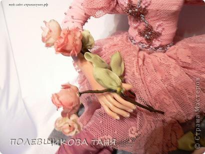 Куклы День рождения Лепка Шитьё Авторская кукла Бог создал женщину из роз Пластика Проволока Ткань фото 7.