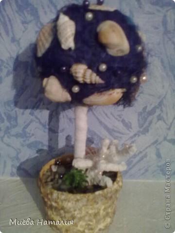 """Всем привет. На ваш суд второе мое дерево. За идею особая благодарность Рыжехвостой и ее """"Морскому бризу"""" http://stranamasterov.ru/node/228596, а то дома скопились большие залежи ракушек и камешков с моря. фото 9"""