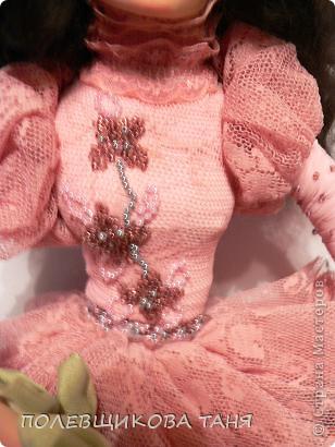Куклы День рождения Лепка Шитьё Авторская кукла Бог создал женщину из роз Пластика Проволока Ткань фото 6.