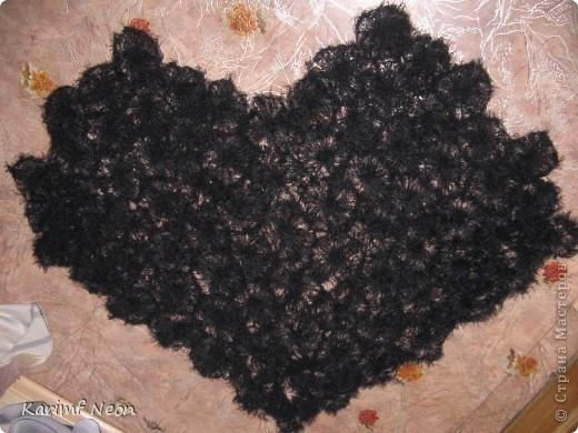 В год Черного Дракона у меня получилась вот такая черная шаль. Вязал её на шаблоне (или как его ещё называют  - рамка или тенерифе). Естественно, что шаблон покупать не стал, а СДЕЛАЛ самостоятельно :))))))))))))))) фото 1