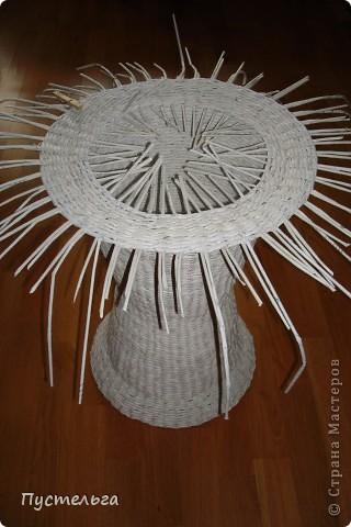 Поделка изделие Декупаж Плетение Столик для вязания Бумага Картон фото 12