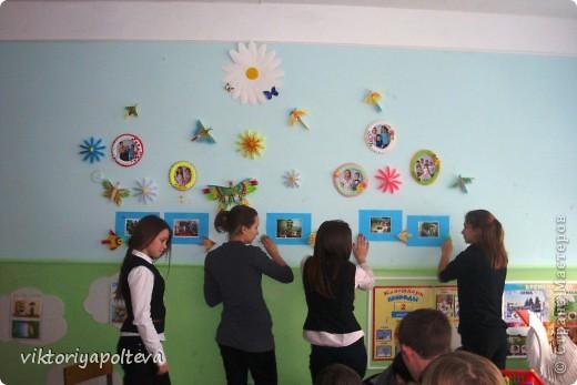 """На уроках проектной деятельности учащиеся 11 класса выбрали тему проекта """"Оформление группы детского сада в технике модульного оригами"""". На сборку модулей и самих работ ушло около 2-х месяцев фото 11"""