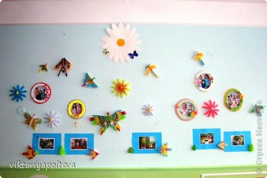 """На уроках проектной деятельности учащиеся 11 класса выбрали тему проекта """"Оформление группы детского сада в технике модульного оригами"""". На сборку модулей и самих работ ушло около 2-х месяцев фото 1"""