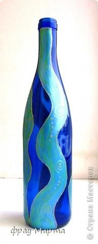 Нужно было быстро и дешево изобрести подарок свекру на юбилей - получилась вот такая бутылочка!  фото 4