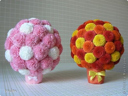 Цветочные шары из гофрированной бумаги