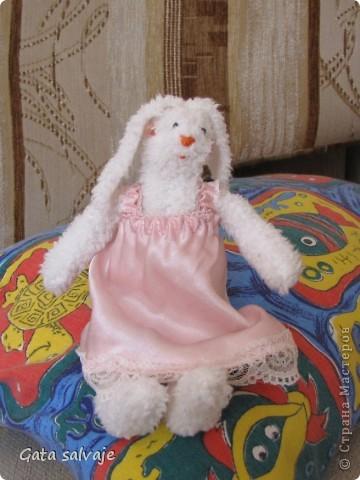 По выкройке тильдозайки сшила своей малявочке мяконькую игрушку - мы ее и днем спать укладываем, и на ночь с собой берем. фото 4