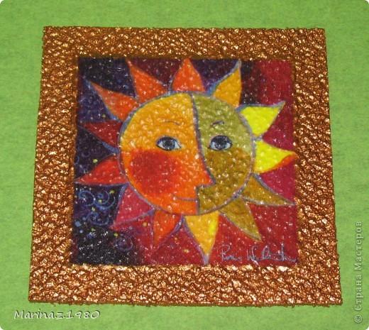 """Добрые сутки! Продолжаю тему """"Панно из различных материалов"""" - данная серия из потолочной плитки. фото 5"""