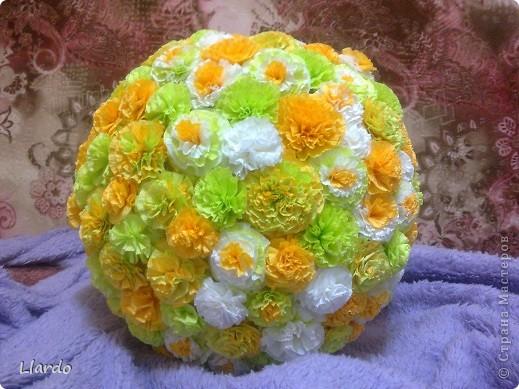 Поделка цветочный шар