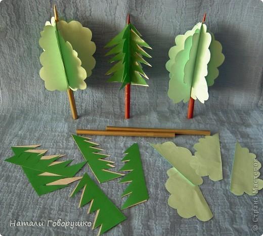 Схемы из бумаги деревья