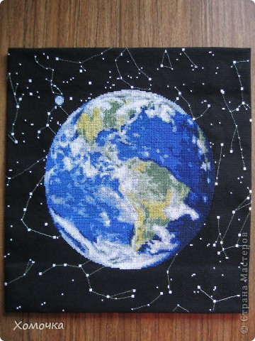 Планета Земля Канва Нитки