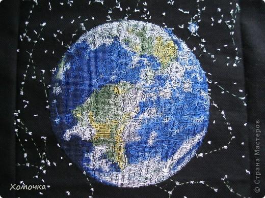 Вышивка крестом Планета