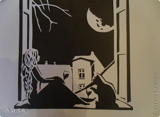 Вытынанка - Ночная тишина Ссылка на шаблон.