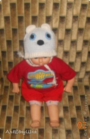 шапка-голубоглазый мишка)) фото 2