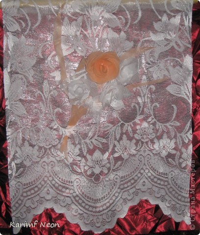 Как и в паутинке (  http://stranamasterov.ru/node/308168  ), ВЕСЬ ТЮЛЬ покрыл клеем ТИТАН. Когда всё высохло (около 4-х часов) ткань стала жесткой, и стала похожа на бумагу. ВСЁ остальное делал, как с обычной БУМАГОЙ! И получились цветочки.  фото 5