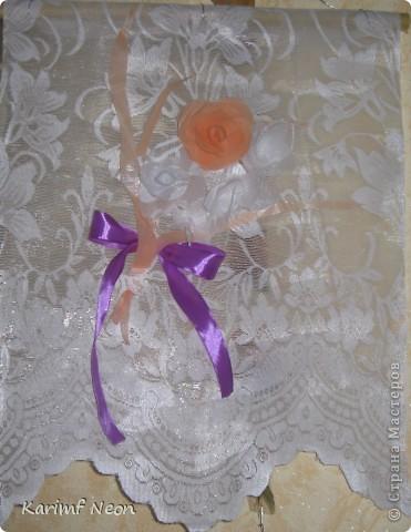 Как и в паутинке (  http://stranamasterov.ru/node/308168  ), ВЕСЬ ТЮЛЬ покрыл клеем ТИТАН. Когда всё высохло (около 4-х часов) ткань стала жесткой, и стала похожа на бумагу. ВСЁ остальное делал, как с обычной БУМАГОЙ! И получились цветочки.  фото 8