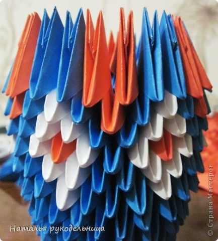 Поделки по книгам сайта 8 марта Валентинов день День матери День рождения День учителя Оригами китайское модульное Ваза Бумага фото 12