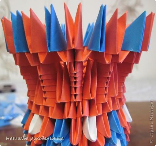 Поделки по книгам сайта 8 марта Валентинов день День матери День рождения День учителя Оригами китайское модульное Ваза Бумага фото 20