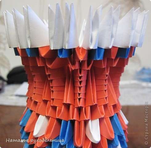 Поделки по книгам сайта 8 марта Валентинов день День матери День рождения День учителя Оригами китайское модульное Ваза Бумага фото 22