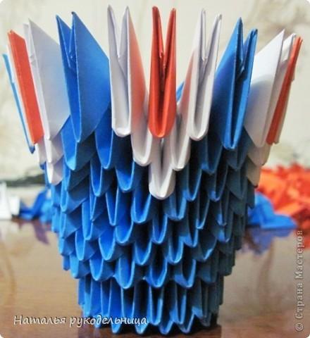 Поделки по книгам сайта 8 марта Валентинов день День матери День рождения День учителя Оригами китайское модульное Ваза Бумага фото 9