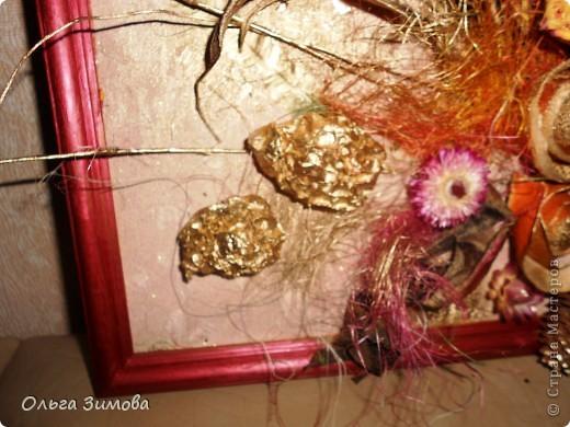 Ещё одно панно на день рождения. Его украсила  перьями фазана! Размер 30 на 40. фото 3