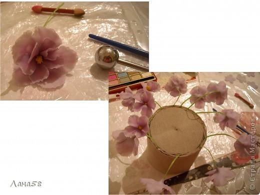 Мастер-класс Флористика Лепка фиалки мини МК Фарфор холодный фото 8