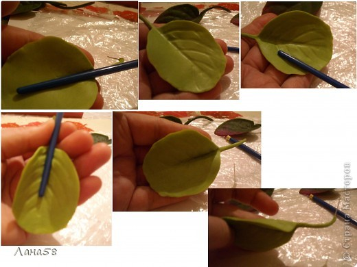 Мастер-класс Флористика Лепка фиалки мини МК Фарфор холодный фото 16