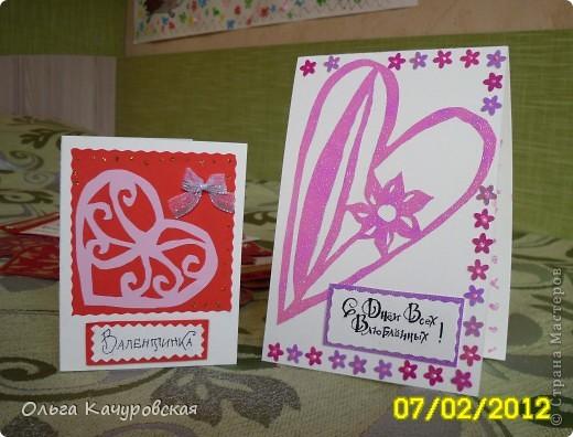Вот и мы подготовились праздновать День всех влюбленных!!! Мастерили с дочкой открытки, украшали окна.... Результатом довольны!  фото 18