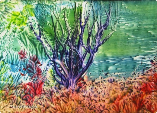 Интерьер Картина панно рисунок Мастер-класс Энкаустика На морском дне или МК для тех кто совсем не умеет рисовать Воск парафин Картон фото 1