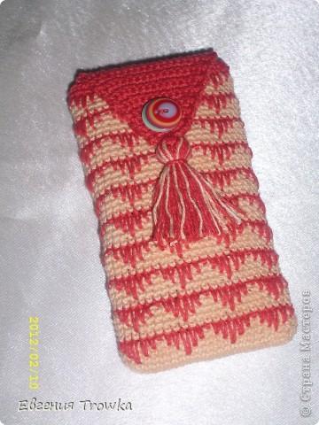 Вязание крючком - Чехол для телефона-21