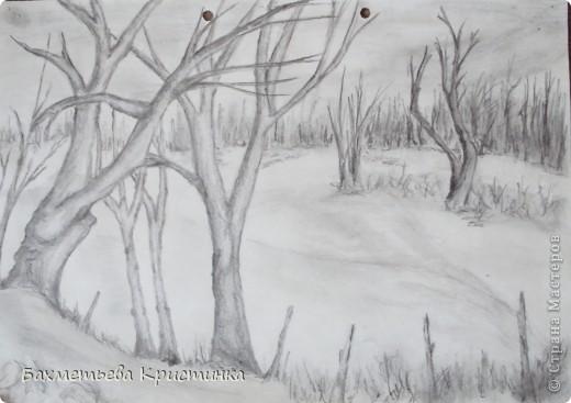 Панно лес своими руками