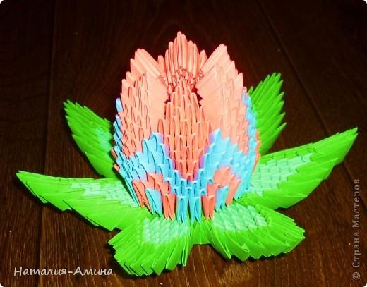 Лотос. Поделка изделие Оригами