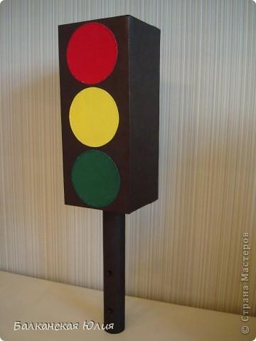 Поделка светофора из картона