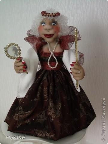 Всем Привет !!!! Я к Вам в гости со своей  Королевишной  )) ...моя первая каркасная кукла
