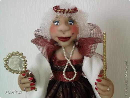 Всем Привет !!!! Я к Вам в гости со своей  Королевишной  )) ...моя первая каркасная кукла фото 2
