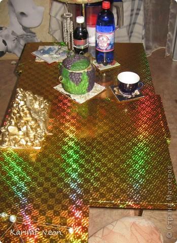 Я сделал Золотой Стол и мне понадобились подставки, чтобы подольше сохранить столешницу.   фото 10