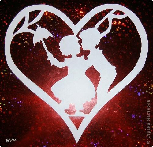 Пусть и у нас на сайте будут интересные вытынанки, к примеру, ко Дню святого Валентина.
