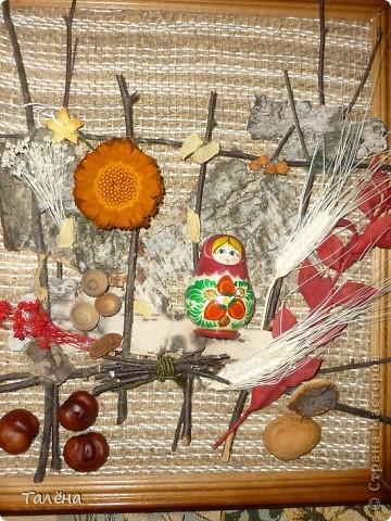 Картина панно рисунок Праздник осени Аппликация Для души - воспоминание об осени  Материал природный фото 1