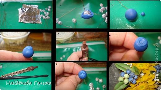 Мастер-класс Лепка Голубика Как я ее далала Фарфор холодный фото 2
